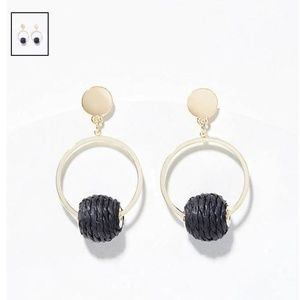 NWT LOFT STRAW BALL EARRINGS